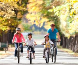 Biking is great for the whole family.