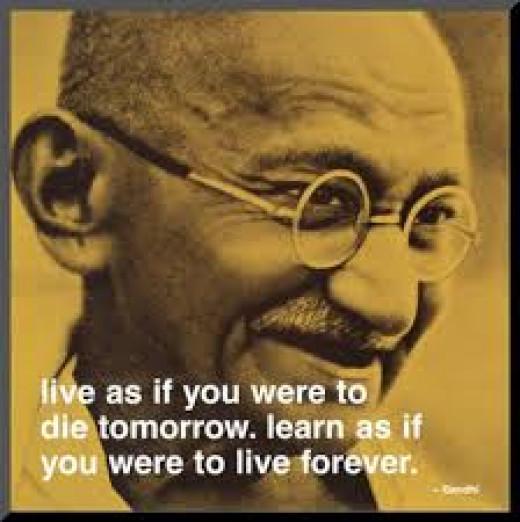 Mahatma Ghandi, one of the world's greatest leaders