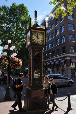 Famous Steam Clock in Gastown Vancouver, BC