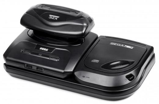 Sega Genesis ver. 2 with 32X & CDX add-ons.