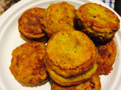 Vegetarian Shami kebabs:Lentils and Potato and Herb Tikki (Patties).