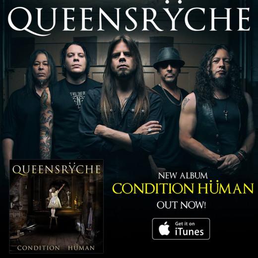 Queensryche L-R: Eddie Jackson (bass), Parker Lundgren (gtr), Todd LaTorre (vox), Scott Rockenfield (drums), Michael Wilton (gtr)