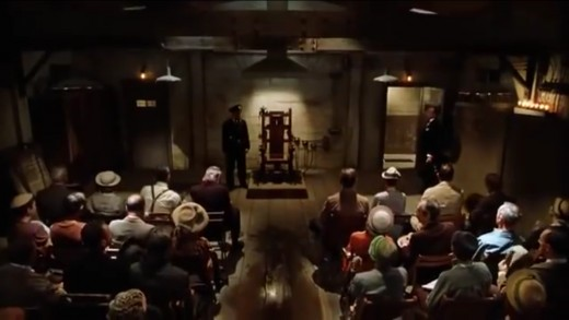 The church-like layout of the execution room reveals an ironic message of preaching love instead of hate in this film