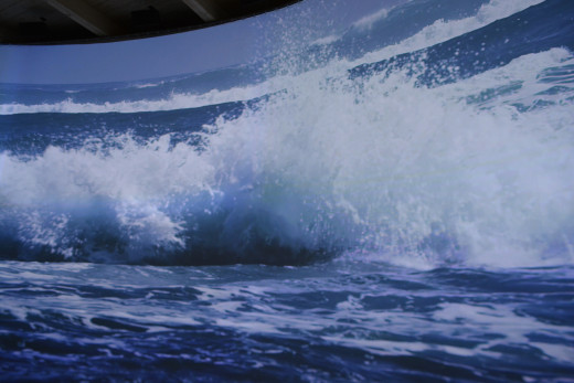 IMAX sized screen showing the natural beauty of Chile.