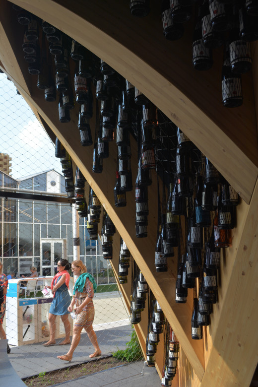 The French truly love their wine. Amazing display of endless wine bottles!