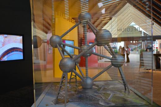 Replica of what is left of the Belgium EXPO