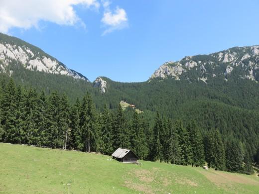 The beautiful Carpathian countryside in Transylvania.