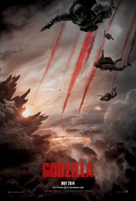 Godzilla, 2014, movie poster