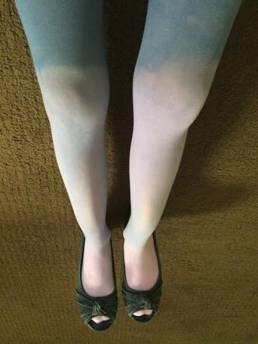 DIY Purple Ombre Tights