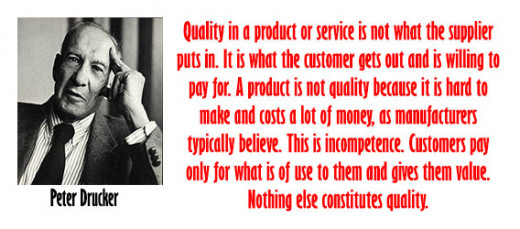 Peter Drucker Quotes on Good Quality Product