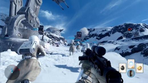 A screenshot of Alpha development of the Walker Assault
