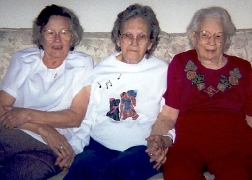 Louise at 83, Catherine at 78, and Helen at 93 years old.