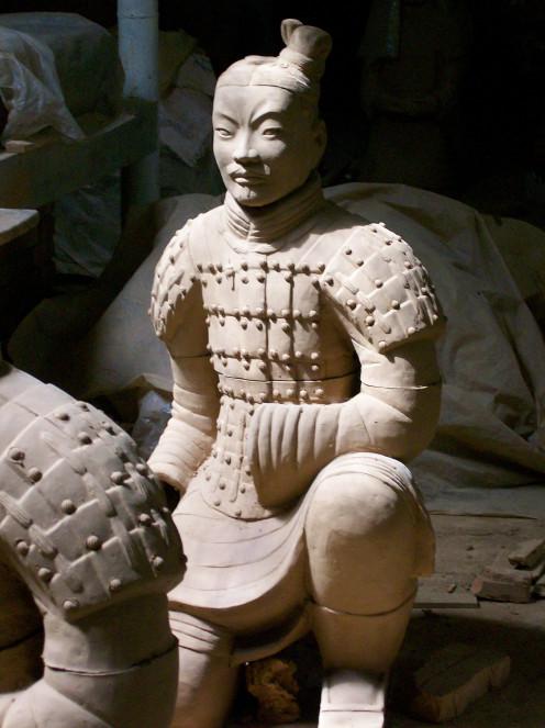 An artists copy of a Terra Cotta Warrior.