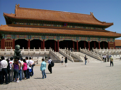 The Forbidden Palace in Beijing, China.