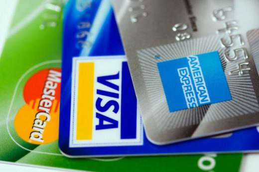 Credit Cards - Visa, Mastercard, American Express