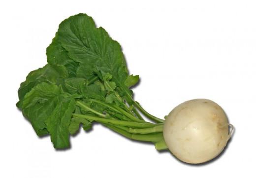 Turnip with greens
