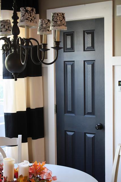 Interior Doors Painted Black