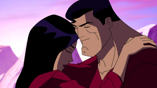 "Superman and Lois Lane share a moment in ""Superman: Doomsday"""