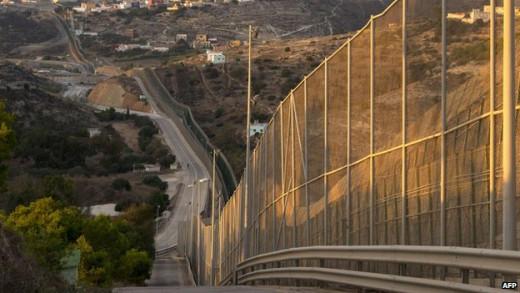 Melilla triple-fence