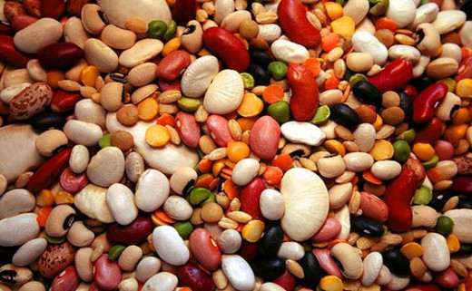 A Mix Of Different Beans And Legumes