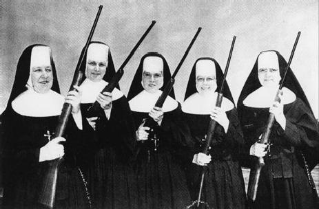 Nuns' private investigations team. Could it be CSI Santucci?