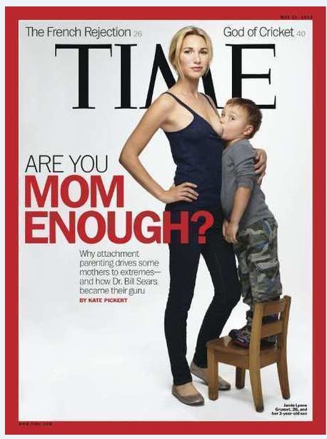 Attachment Parenting on the cover of TIME magazine