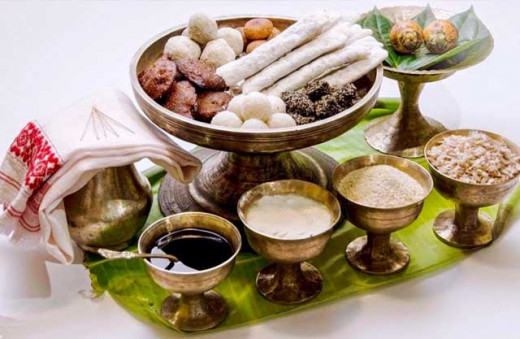 The traditional Bihu Serving