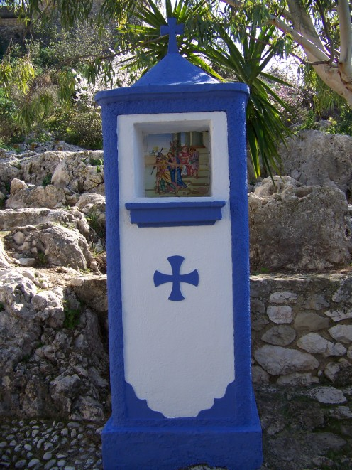 One of the many little stations of the Cross that are dotted all along the paths inside the Castle walls