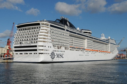 The cruise ships are getting ever larger and some of them remind me of floating tower blocks.