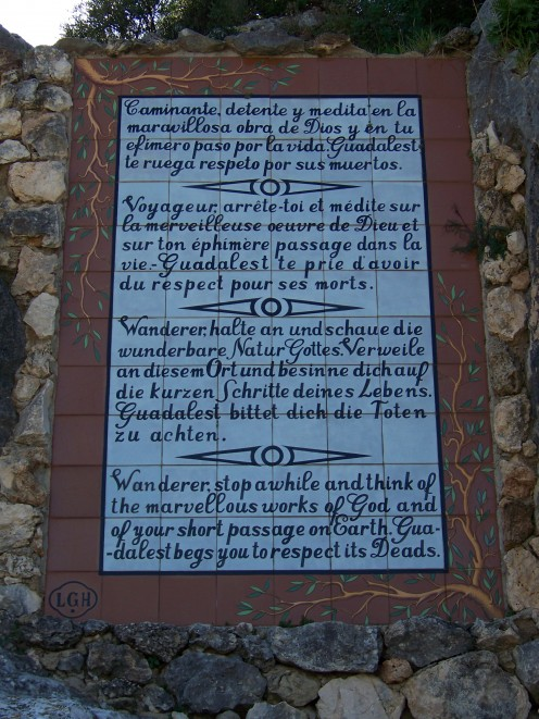 A Plaque near The Entrance to the Grave Yard
