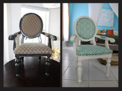 DIY Reupholstering a Chair