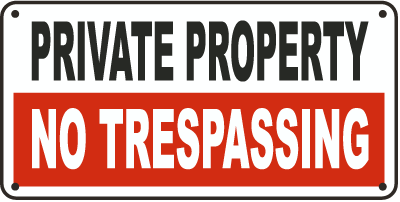 Protect your rights by putting this sign.