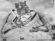 Artist's rendition of the possible outline of the Castle of Maniago