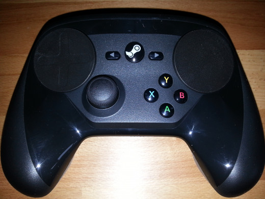Front view of the Steam Controller