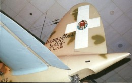 View of the tail of the Macchi C.202 in the National Air & Space Museum, Washington, DC., May 2000.