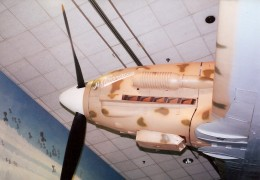 Forward fuselage view of the Macchi C.202 in the National Air & Space Museum, Washington, DC, May 2000.