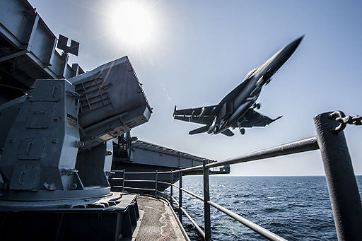 FA-18 launch during Inherent Resolve