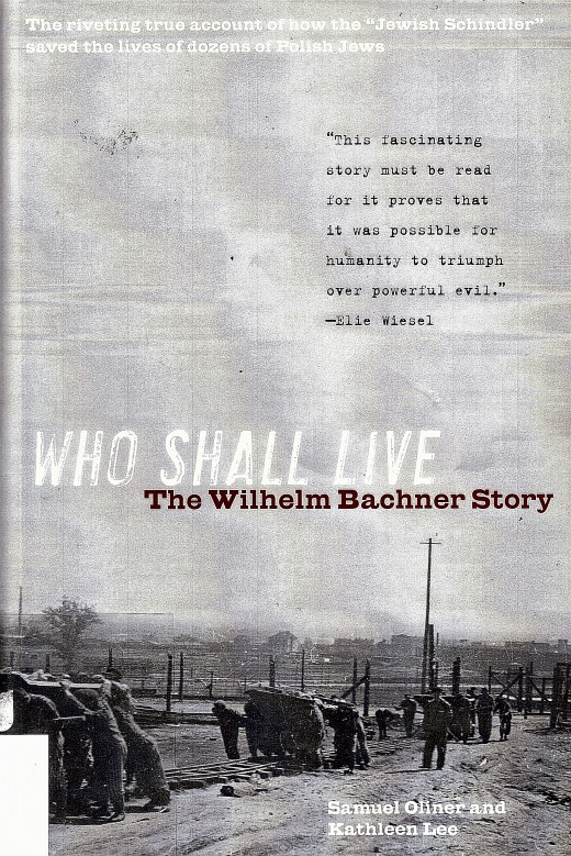 """The book """"Who Shall Live."""""""