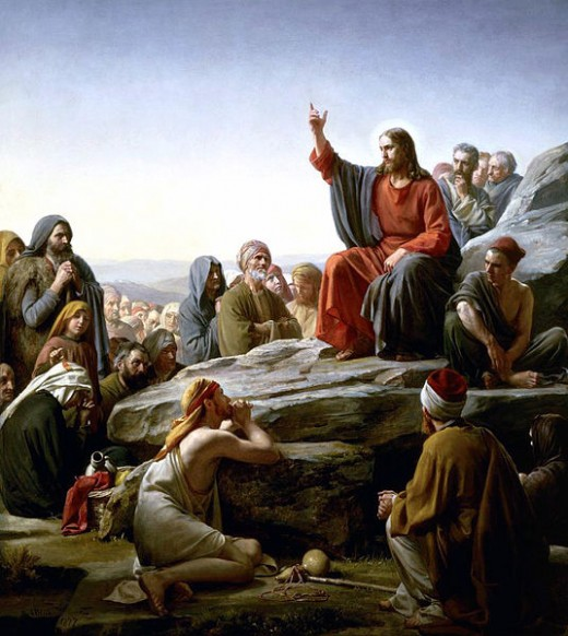 Jesus while at Sermon on the Mount