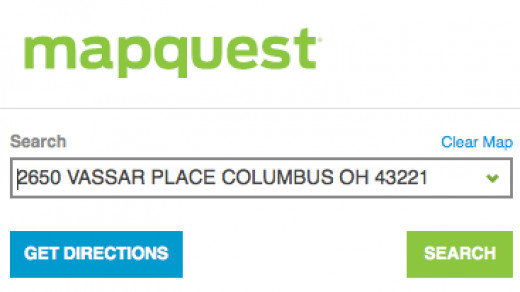 For Mapquest, you'll need to paste the address in the text field and click 'Get Directions'