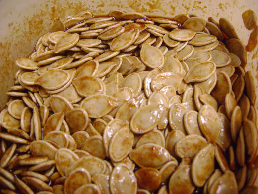 Marinade the drained seeds in the mixture for 15 minutes