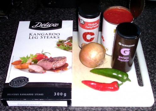 Kangaroo curry principal ingredients
