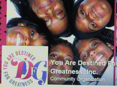 "Photo featured on ""You Are Destined For Greatness,"" Facebook page."