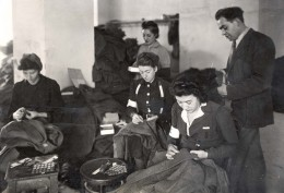Jews sewing uniforms for German Army. Source: Yad Vashem Photo.