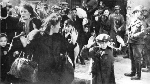 Round up of Warsaw Jews.