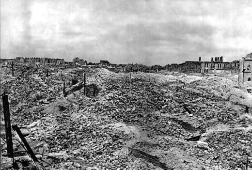 Warsaw Ghetto in 1945