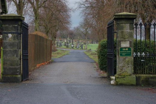 One of the dares at Halloween was when it got dark someone was chosen to walk on their own at least 12 paces in through the cemetery gates.
