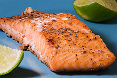 Salmon is a very high source of CoQ10.