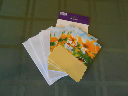 "The 'joy"" note cards that inspired this plan to spread joy."
