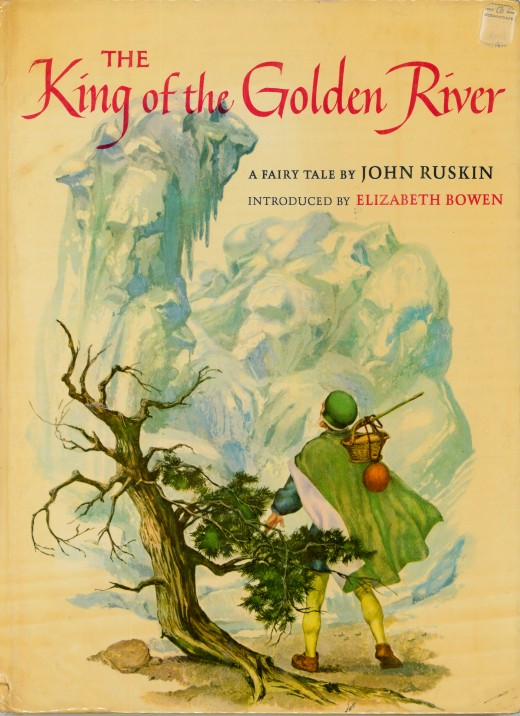 The King of the Golden River, a Fairy Tale by John Ruskin, introduced by Elizabeth Bowen. Illustrated by Sandro Nardini and made by the Macmillan Company, New York and London. Printed in 1962